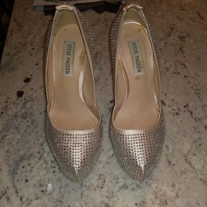 GUC Steve Madden crystal shoes